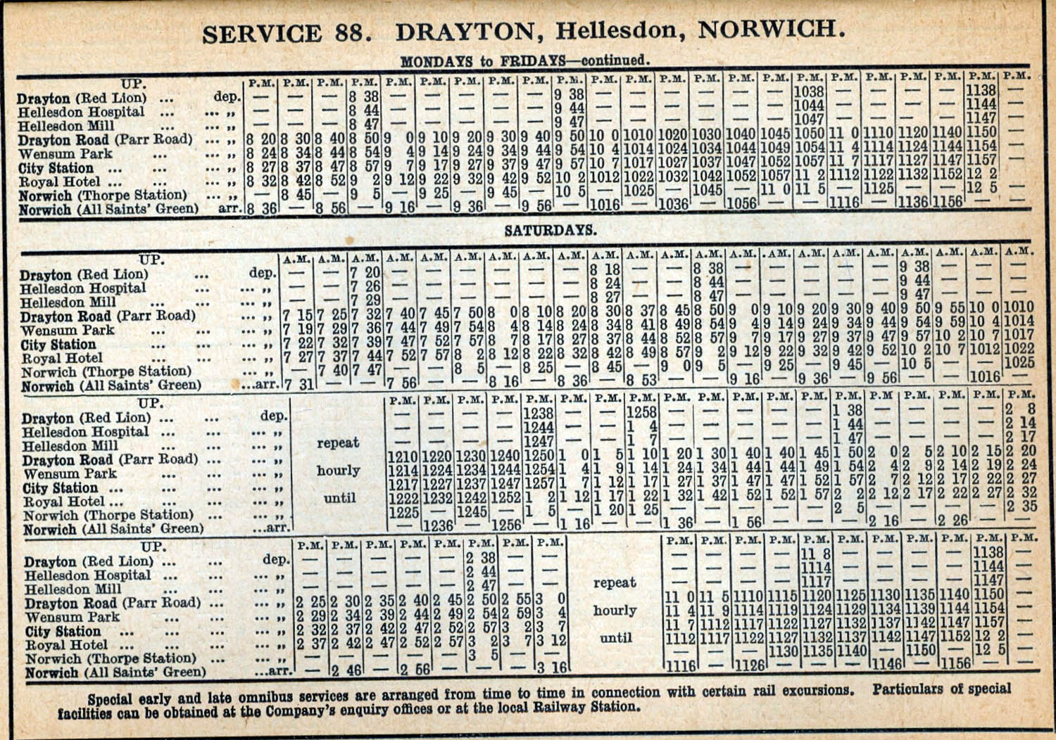 station time table